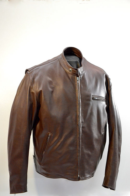 900-3 Men's Leather Jacket - Brown Distressed