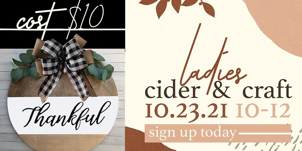 Ladies Cider & Craft Event