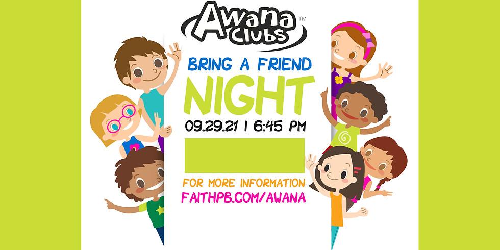 Bring A Friend Night AWANA