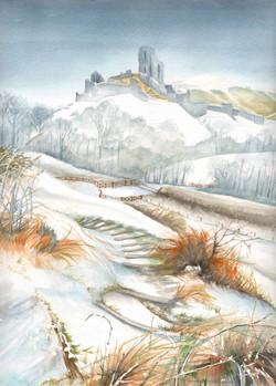 78. Corfe Castle Snowy Day (Photo by David Thompson)