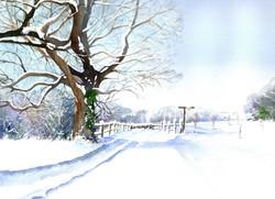 170. Winter in Chaldon, Surrey