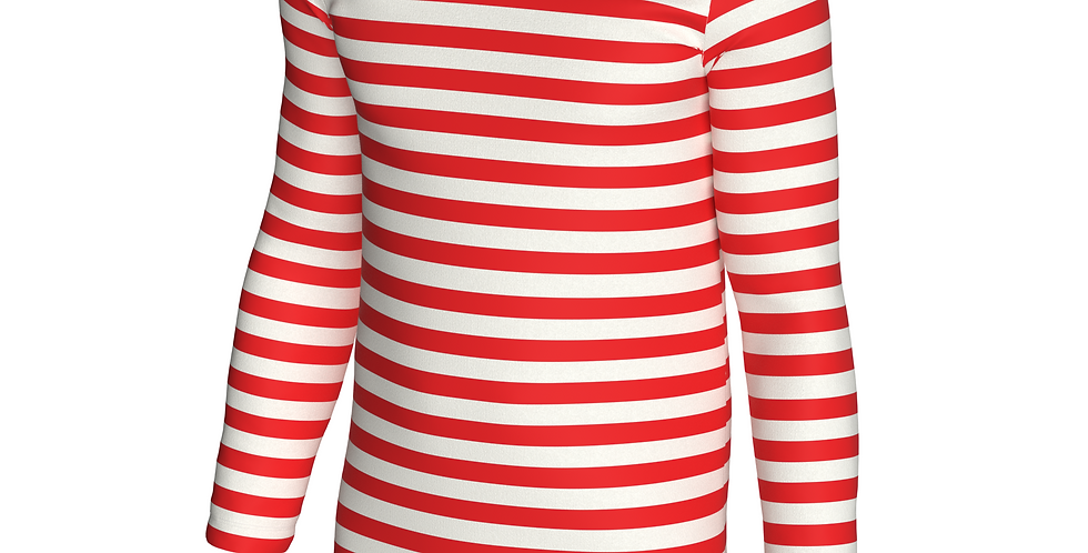 Camisa Listrada Listra Estampa Total Masculina Oversized Ml Vermelho