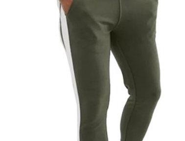 Calça Listrada Track Pants Moletom Fitness Masculina Verde