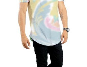 Camiseta Tie Dye Oversized  Redonda Swag Multicor 01