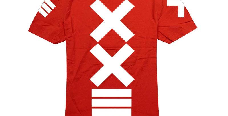 Camiseta Estampa X 100% Algodão Tradicional Vermelha