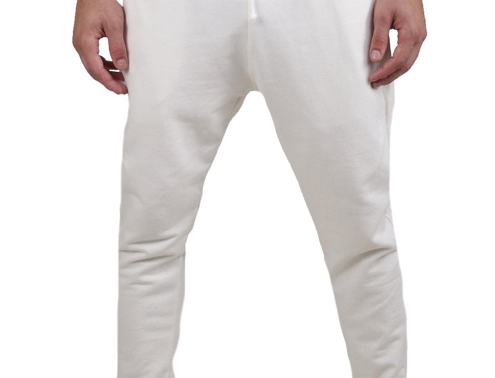 Calça Moletom Moleton Normal Swag Jogger Masculina Top Básic Branco