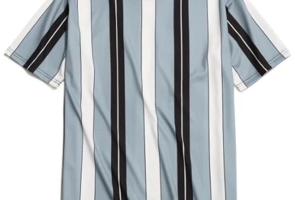 Camiseta Listrada 02 Malha Básica 100% Poliéster