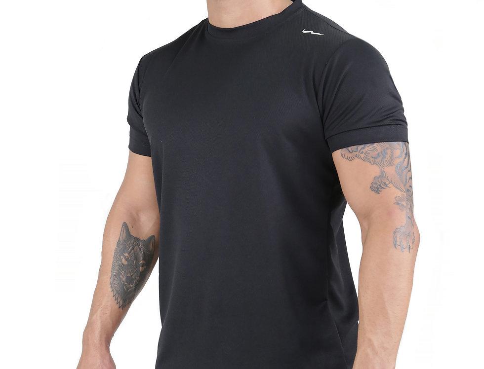 Camiseta Track Dry Fit Lisa Academia Running Atletico Preta
