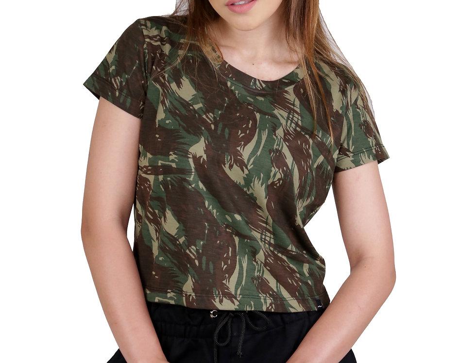 Camiseta Blusinha Camuflada Verde
