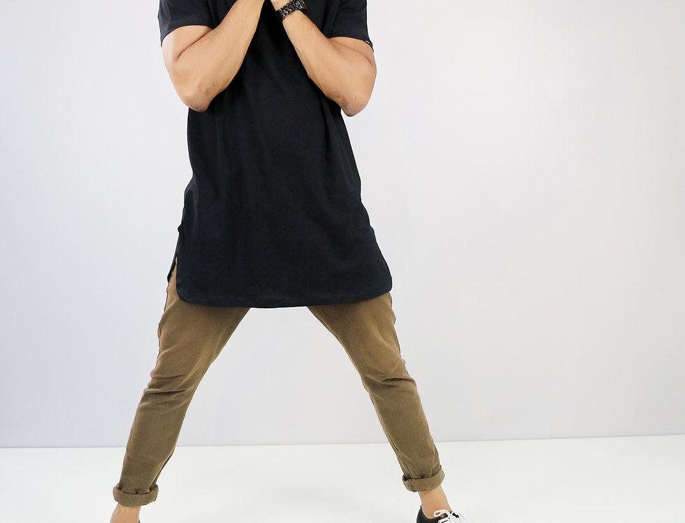 Camisa Extreme Oversized Preta Algodão