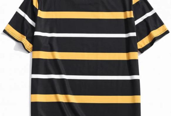 Camiseta Listrada 03 Malha Básica 100% Poliéster
