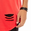 Thumbnail: Camiseta Longline Oversized Destroyed Rasgada Barra Redonda Vermelha