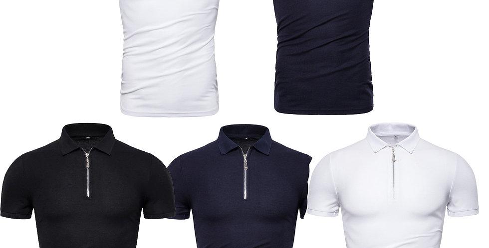 Kit 5 Camisa Com Ziper Gola Polo Colarinho Básica Brasil