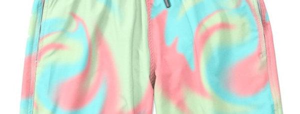 Short Tie Dye Masculino Praia Piscina Multicor Meio Swag