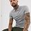 Thumbnail: Camiseta Polo Masculina 100% Algodão Piquet Tradicional Cinza Claro
