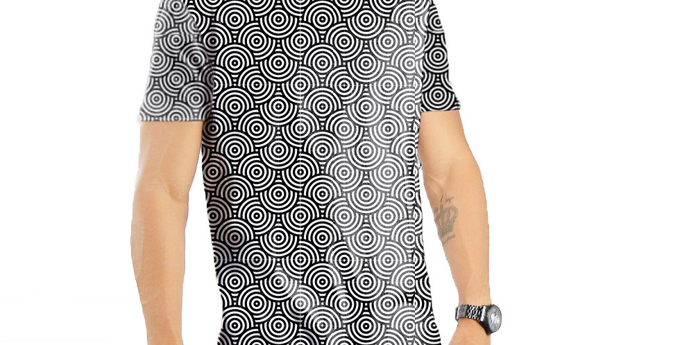 Camiseta Oversized Redonda Swag Estampa Total Geométrico 02