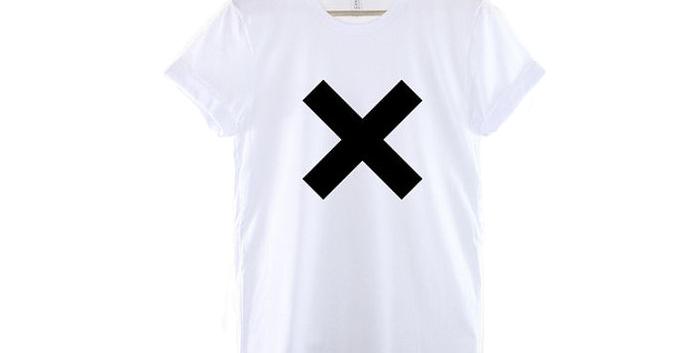 Camiseta Estampa X 100% Algodão Tradicional Branca