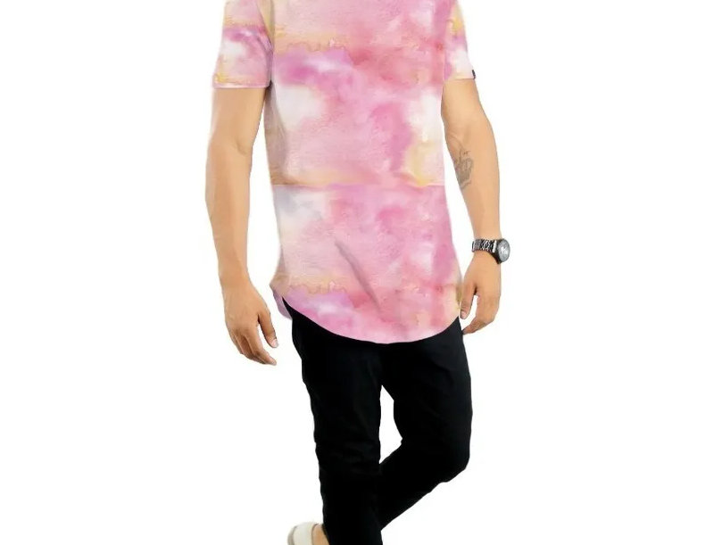 Camiseta Tie Dye Oversized  Redonda Swag Multicor 06