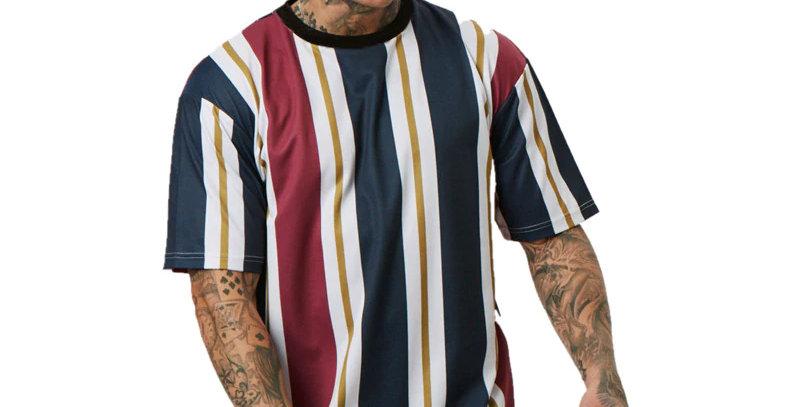 Camiseta Listras Listrada Cores 100% Poliéster