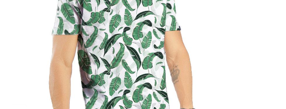 Camiseta Oversized Redonda Swag Estampa Total Tropical 05