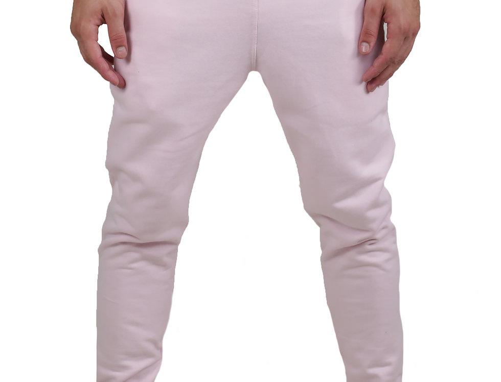 Calça Moletom Moleton Normal Swag Jogger Masculina Top Básic Rosa
