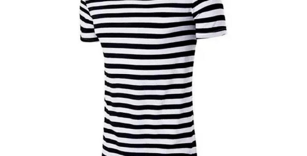 Camisa Listrada Listra Oversized Masculino Estampa Total Preto