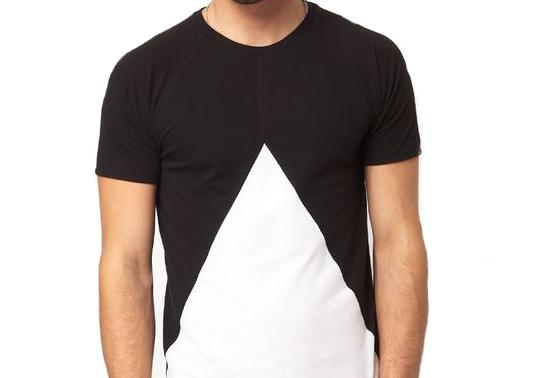 Camiseta Recorte Geométrica 100% Algodão Básica Meio Swag Preta