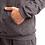 Thumbnail: Moletom Canguru Com Cordão no Capuz 100% Algodão Cinza Mescla Escuro