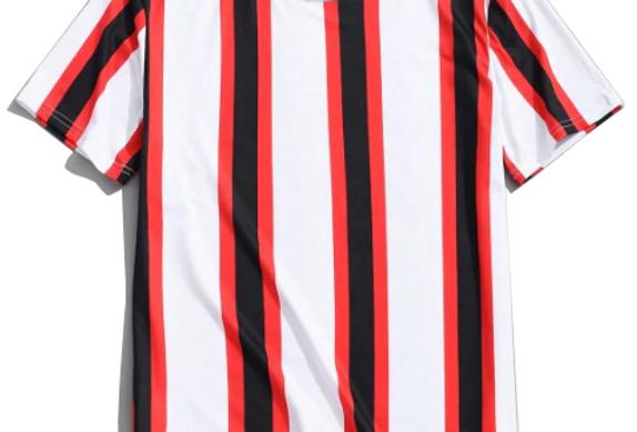 Camiseta Listrada 04 Malha Básica 100% Poliéster