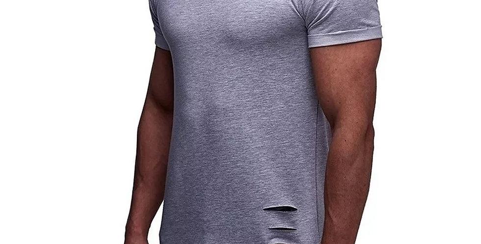 Camisa Rasgada Destroyd Destroida Longline Oversized Bico X