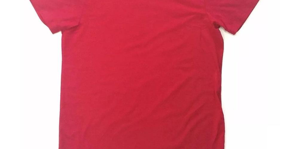 Camiseta Oversized Longline Redonda Infantil - 2 A 16 Anos Vermelho
