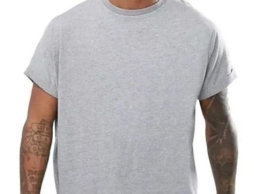Regata Blusão Machão Oversized Tshirt Camiseta Longline Swag Cinza
