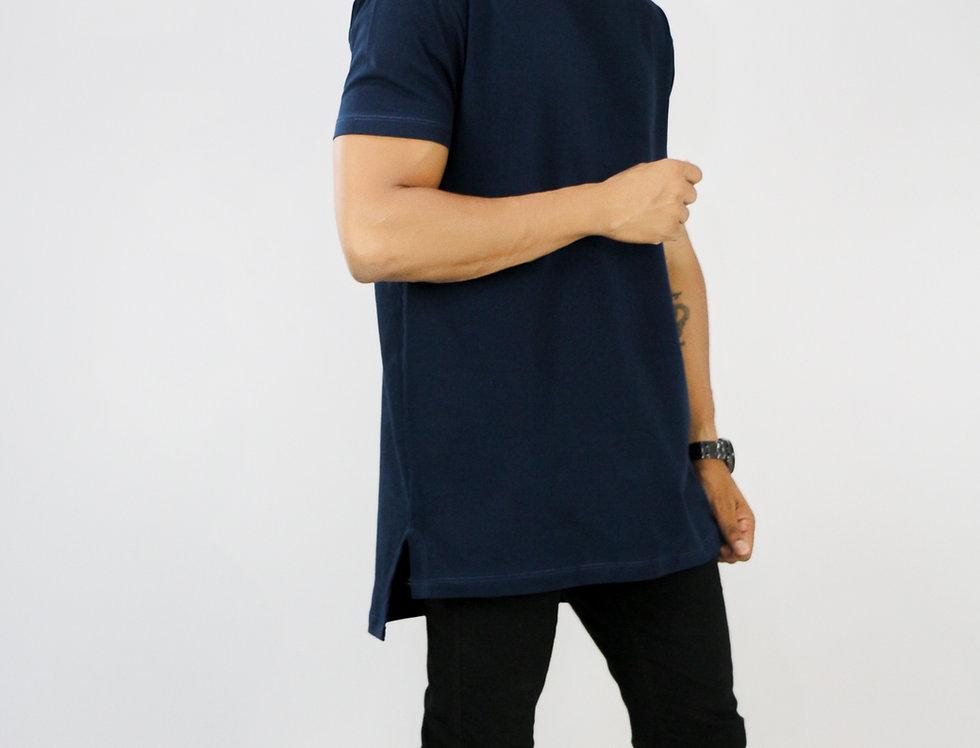 Camisa Extreme Oversized Azul Marinho Algodão