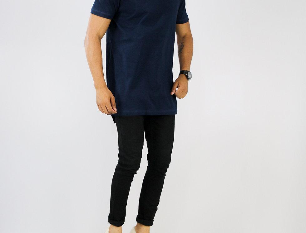 Camiseta Oversized Longline Reta Algodão Meio Swag