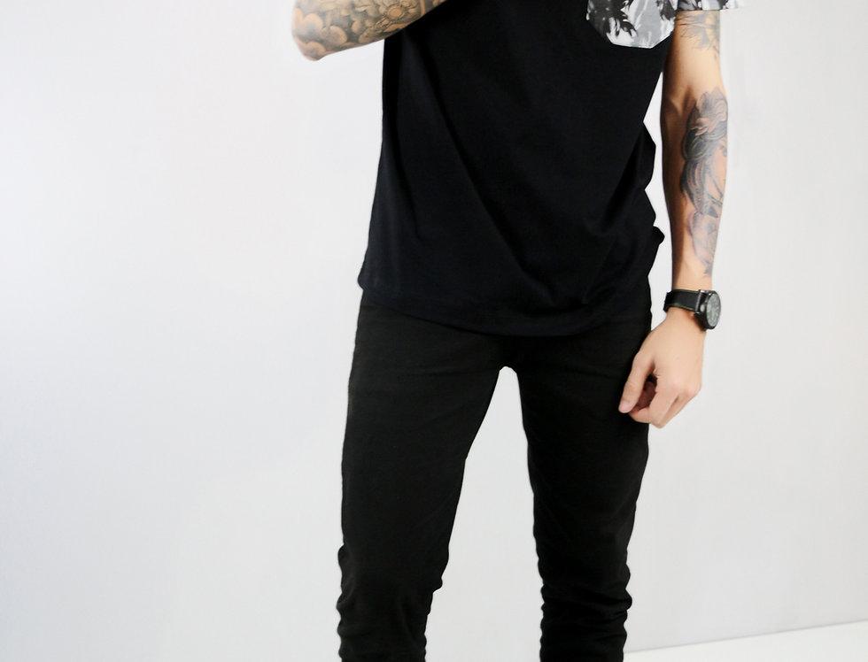 Camisa com Bolso Cinza Camuflado