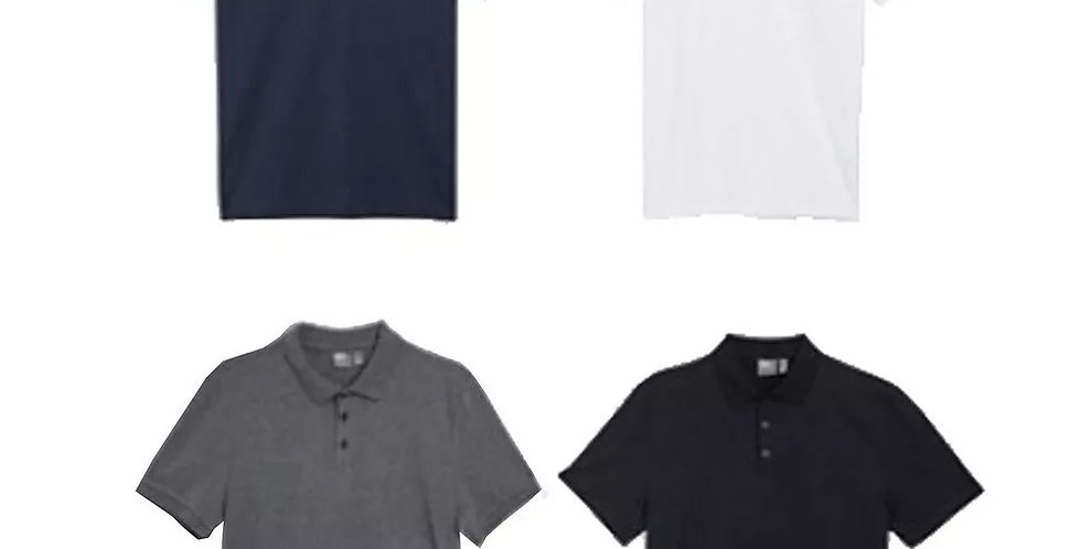Kit 4 Camisa Polo Piquet Masculina 100% Algodão