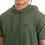 Thumbnail: Camisa Longline Oversized Com Capuz Meio Swag Básica Bordada Verde
