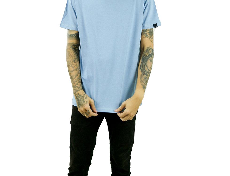 Camiseta Básica Azul Manga Curta