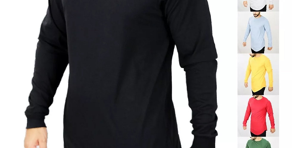 Kit 10 Camisas Manga Longa Diversas Longline E Oversized