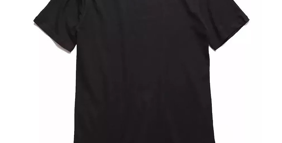 Camiseta Oversized Longline Redonda Infantil - 2 A 16 Anos Preto