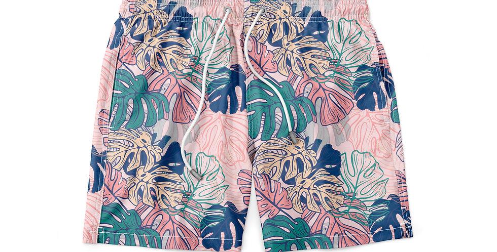 Short Banho Estampado Praia Piscina Masculino Verão Floral B 03