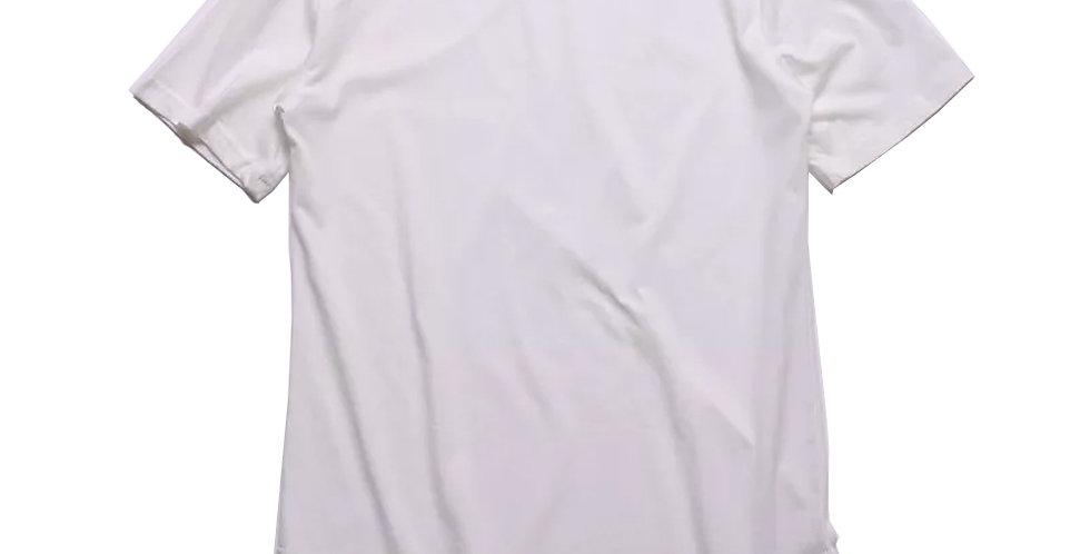 Camiseta Oversized Longline Redonda Infantil - 2 A 16 Anos Branco