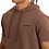 Thumbnail: Camisa Longline Oversized Com Capuz Meio Swag Básica Bordada Marrom