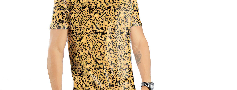 Camiseta Oversized Redonda Swag Estampa Total Étnica 01