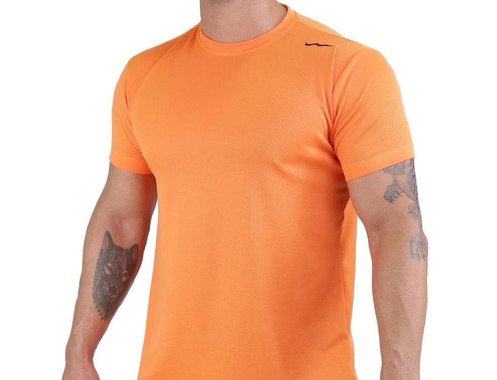 Camiseta Track Dry Fit Lisa Academia Running Atletico Laranja
