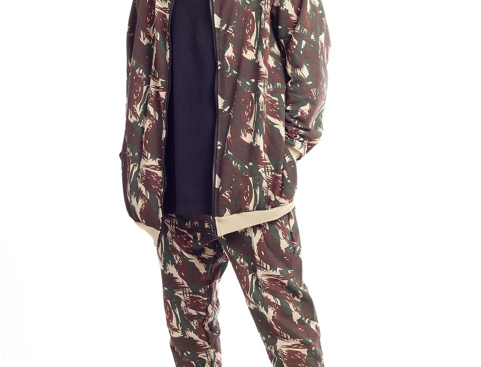 Moletom Conjunto Camuflado Casaco Bomber Calça Jogger Swag