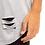 Thumbnail: Camiseta Longline Oversized Destroyed Rasgada Barra Redonda Cinza
