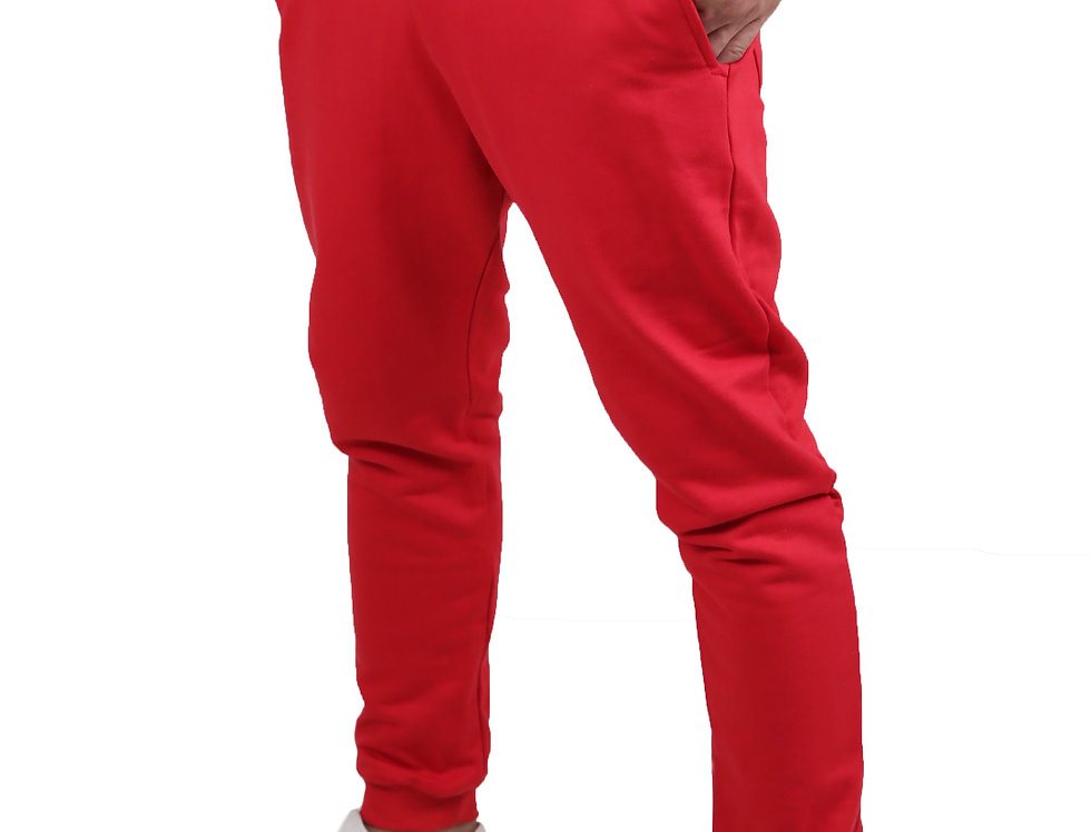 Calça Moletom Moleton Normal Swag Jogger Masculina Top Básic Vermelha