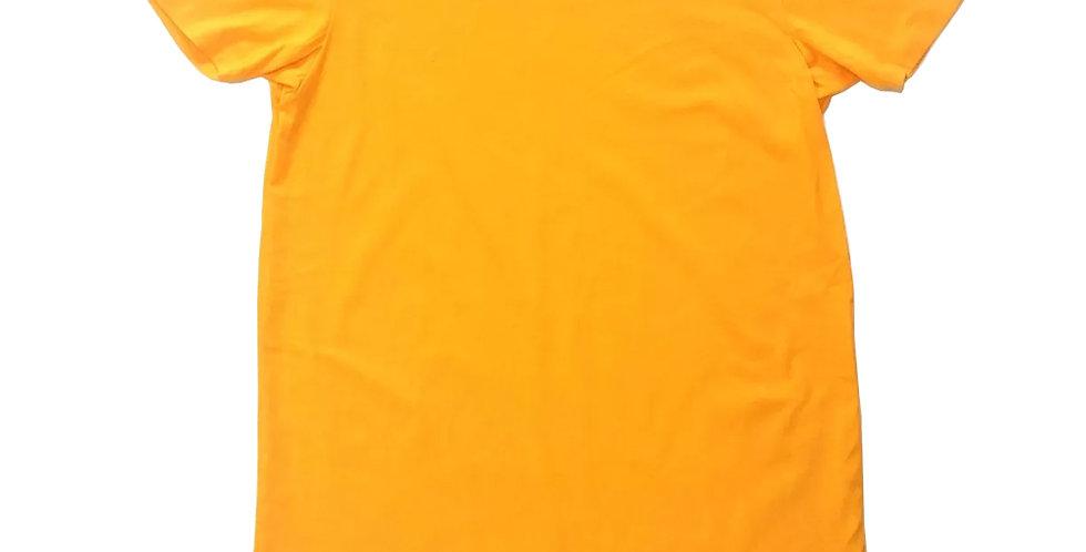 Camiseta Oversized Longline Redonda Infantil - 2 A 16 Anos Amarelo