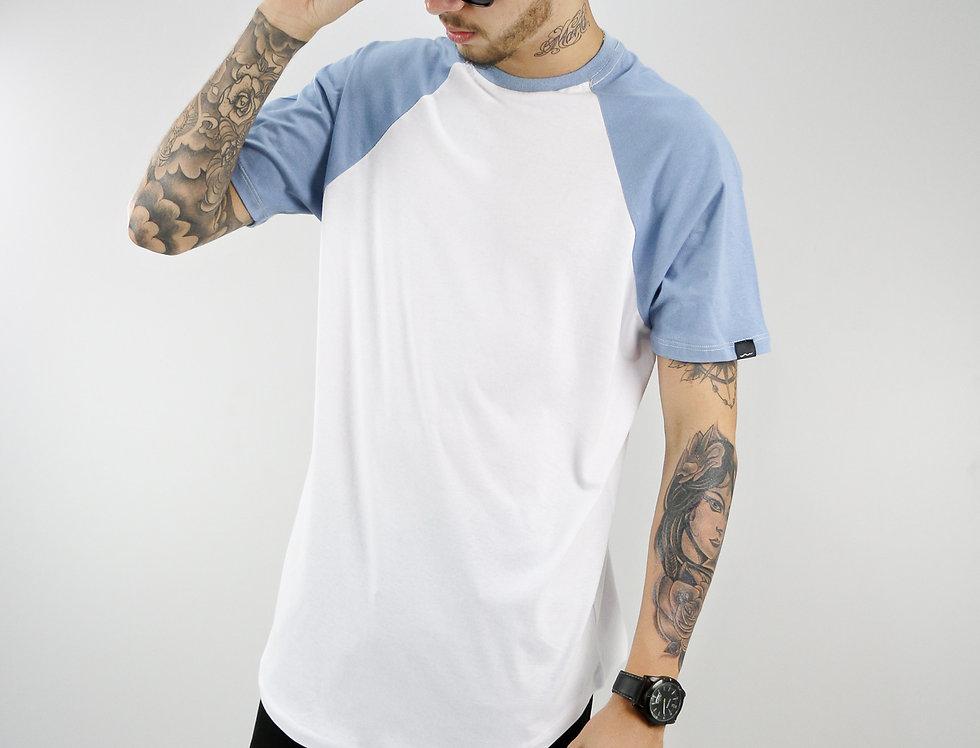 Camiseta Raglan Oversized Manga Curta Algodão